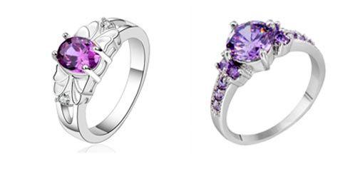 anillos de plata con amatistas, joyas online