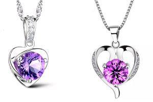 colgantes de plata con amatistas, joyas online