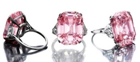 anillos de diamantes rosas Graff Pink