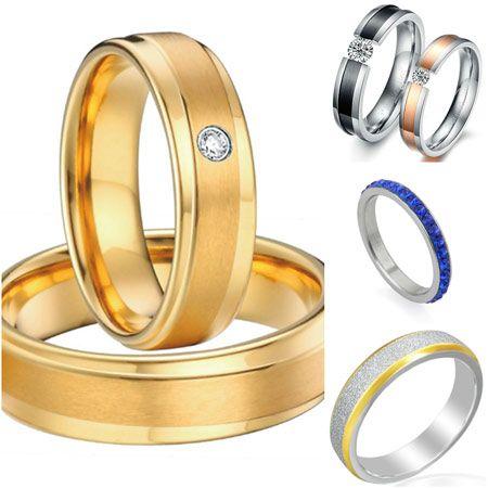 anillos de compromiso acero quirurgico
