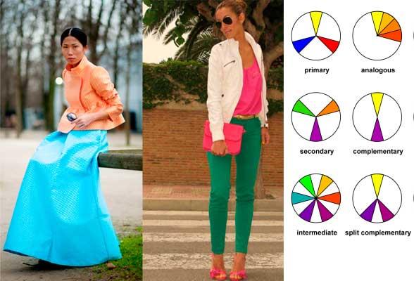 colores complentarios moda mujer