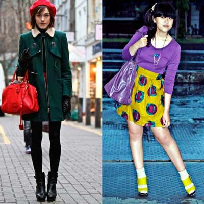 combinación de colores en la ropa complementaria