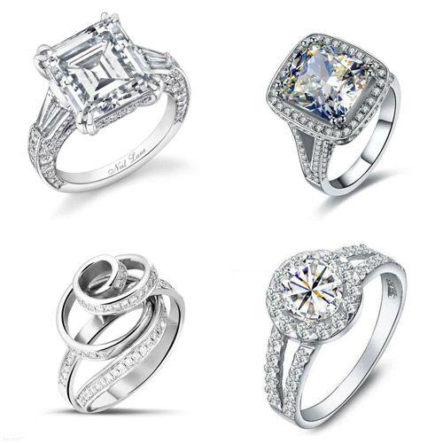 imagenes de anillos de compromiso oro blanco y diamantes