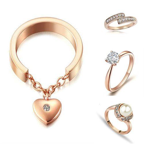 joyas de oro rosa con brillantes