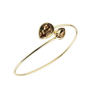 pulsera plata swarovski color oro amarillo