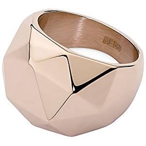 anillo acero rosa qudo