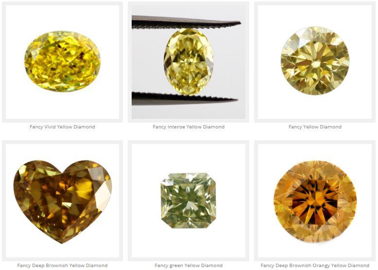 diamantes amarillos tipos