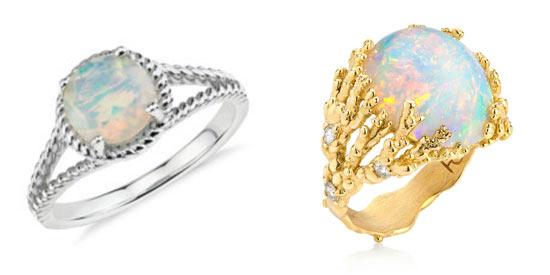 anillos con opalo